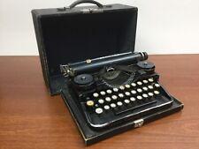 Vintage Underwood Portable Manual Typewriter - Glass Keys - Used w/ Case 1919