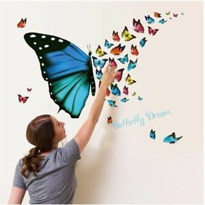Wall Sticker Butterfly TV Background Pail Packing Living Room Home Decoration