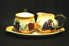 Sonoma Villa Home Interiors Cream & Sugar Set with Underplate Earthware