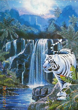 Puzzle..JIGSAW...LASSEN......Moonlit Tiger....Glitter....500pc..Sealed