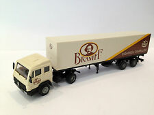 "Vintage -Praline- German Ho Toy Truck Car Tir ""Braniff Cigarette"" Mercedes Benz"