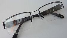 Brillenfassung Unisex Metall Damen Herren E+F Gleitsichtfähig frame schwarzbraun