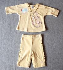 NEU CAKEWALK Fleece Pulli + Hose Set Größe 56/1-2 M gelb kuschelig warm