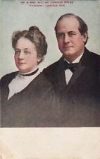 Postcard Mr & Mrs William Jennings Bryan Fairview Lincoln Nebraska