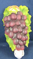 Night Light Purple Grapes Bonded Marble Home Decor