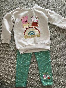 Peppa pig girls two-piece set-jumper & leggings size 2-3 years