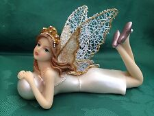 Pearl Fairy Fairies Guardian of the Pearl Ornament With Glitter Net Wings Gift