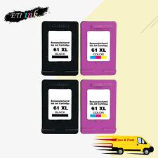 4PK Black/Color Ink for HP 61 XL For HP ENVY 4500 4501 4502 4504 5530 5531 5535
