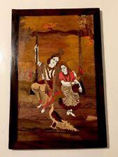 Indian Wood Inlaid RADHA KRISHNA Wall Hanging