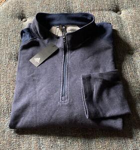 Nwt Adidas Golf 1/4 Zip Pullover Mens Size 3XL Blue  Stretch T9
