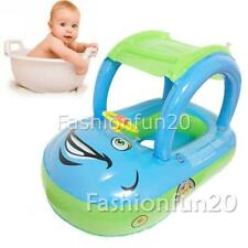 Summer Inflatable Baby Kid Sunshade Boat Float Seat Ring Car Swimming Pool