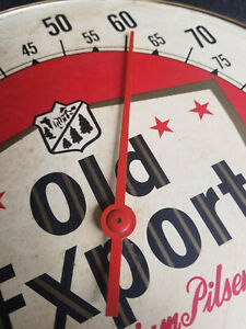"""Vintage OLD EXPORT BEER Thermometer Sign 10"""" Free Shipping!"""