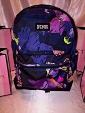 Victorias Secret PINK Floral Backpack Tropical Print Campus