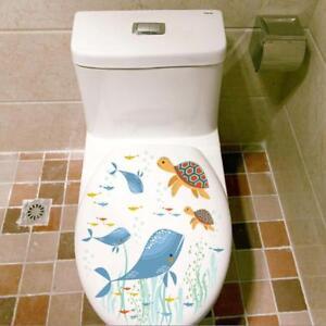 Toilet Seat Wall Sticker Bathroom Decoration Decal Vinyl Mural Decor Fashion YO