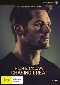 RICHIE MCCAW CHASING GREAT DVD, NEW & SEALED, 2017 RELEASE, REGION 4, FREE POST