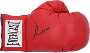 Muhammad Ali Autographed Red Everlast Boxing Glove BAS Graded 10