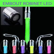Embout robinet à LED  lumineux 7 couleurs lavabo évier température d'eau