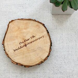 Text on Reverse - Wood Slice Personalised Photo Plaque
