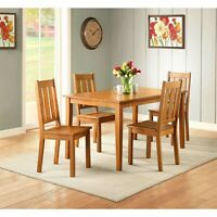 Farmhouse Dining Room Table Set Wooden Kitchen Tables And Chairs Sets 5 Piece