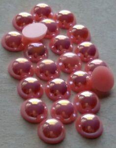 Halbperlen Acryl 10mm Light Pink AB, Menge wählbar