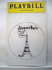 JACQUES BREL IS ALIVE AND WELL Playbill JOE MASIELL / DENISE LE BRUN Boston 1981