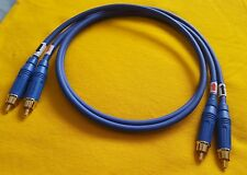 Pair Mogami 2549 Interconnect Audio Cable Amphenol RCA Connector Plugs Blue 3 Ft