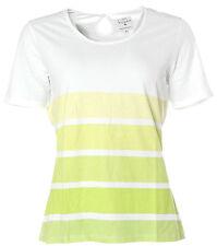 X4205 KITARO Kurzarm Shirt T-Shirt Streifen 38 weiß grün NEU
