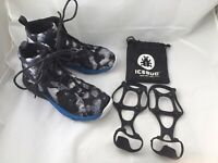 Icebug Now3 M Bugweb RB9X Trail Runner Shoes Grey Blue Mens EUR 42 US 9 Traction