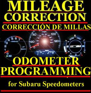Subaru Speedometer Instrument Gauge Cluster Mileage Odometer PROGRAMMING