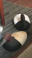 vintage hunting Blue Bill Ducks Decoys One Is Vintage Hand Carved And Clay Ceram