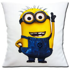 "NEW Minions Character DESPICABLE ME White Yellow Blue 16"" Pillow Cushion Cover"