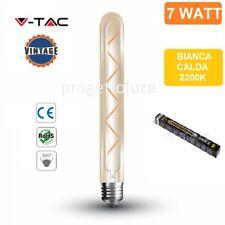 V-TAC VT-2008 LAMPADINA LED E27 7W TUBOLARE 7 FILAMENTI AMBRATA - SKU 7144
