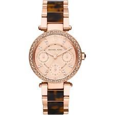 Michael Kors MK5841 Two Tone Tortoise Crystal Glitz Parker Wrist Watch FreeShipp