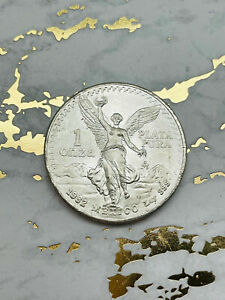 BU 1982 Mexico 1 Onza Libertad Winged Victory 1 oz .999. First year of issue