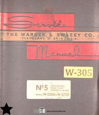 Warner Swasey 5 M 2250 And M 2770 Start Lot 1 Lathe Service Parts Manual