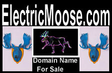 Electric Moose .com Classic Name Easy To Remember Brand  Website Domain Name