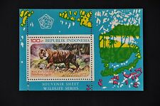 INDONESIA 1977 BL 30 TIGER TIJGER   MNH