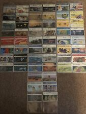 Collection Of 54 Taiwan Phonecards Optical Used Lot 3 Trains Jurassic Park Adver