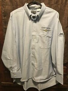 CHRYSLER JEEP Embroidered DEALER FACTORY Edwards US MADE Button Down SHIRT XXL