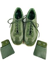 Puma Green Sneakers Leather Suede CMC-0406 US Size 12 Men's Shoes