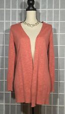 EILEEN FISHER ORGANIC LINEN/ORGANIC COTTON OPEN FRONT CARDIGAN PS