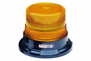 Whelen L53AM L53 Series Super-LED Amber Beacon Light Magnet Mount NEW