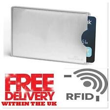 3,5,10,15, RFID manga de tarjeta de crédito de débito Protector de bloqueo de cartera sin contacto UK