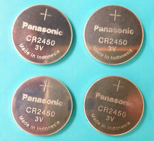 4 NEW PANASONIC CR2450 CR 2450 3v lithium battery EXPIRE 2024