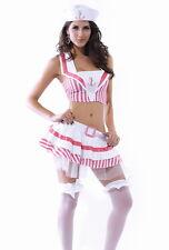Sexy Para mujeres Vestido Elaborado Love Boat Sunset Marinero Traje de Disfraz