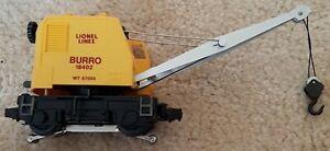 Lionel Modern Era O Gauge 3360 Burro Crane! CT