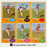 RARE-Scanlens VFL Trading Card 1973 A Full Team Set footscray (6)--NEAR MINT