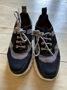 Womens Bally Bilna Extralight Trainers Black & Silver Fabric And Leather Size 4
