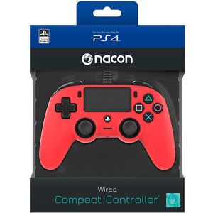 Nacon Compact Controller Joystick Joypad Rosso Ufficiale Sony PS4 PlayStation 4