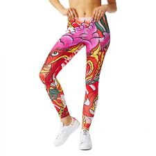 adidas Originals Rita Ora Women's Dragon Print Leggings Pants S UK 10 B Grade